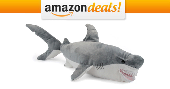 Get an XL Great White Shark Stuffed Animal For $16.01