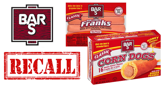 RECALL ALERT: Bar-S Franks & Corn Dog Products