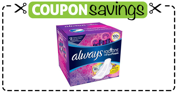 Save 50¢ off Always Pads