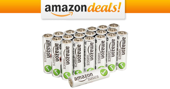 Get a 20-Pack of AmazonBasics AA Batteries For $7.30