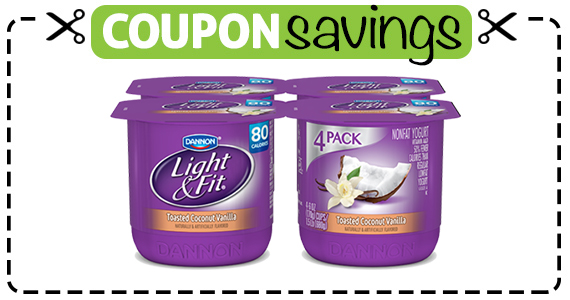 Save 50¢ off Dannon Light & Fit 4-Pack