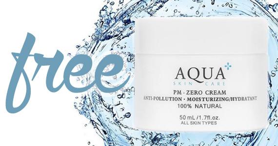 Free AQUA+ PM-Zero Anti-Pollution Moisturizing Cream Sample