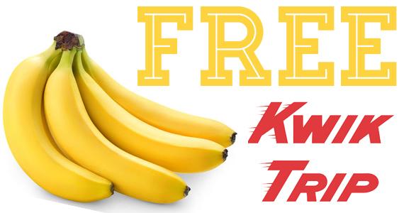 Free Pound of Bananas From Kwik Trip