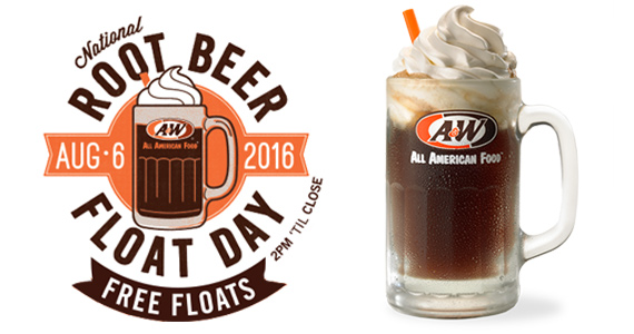 Free Root Beer Float From A&W on 8/6