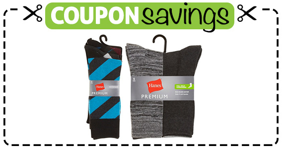 Save $1 off Hanes Premium Dress Socks