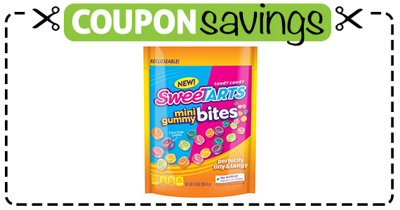 Save $1 off SweeTARTS Mini Gummy Bites