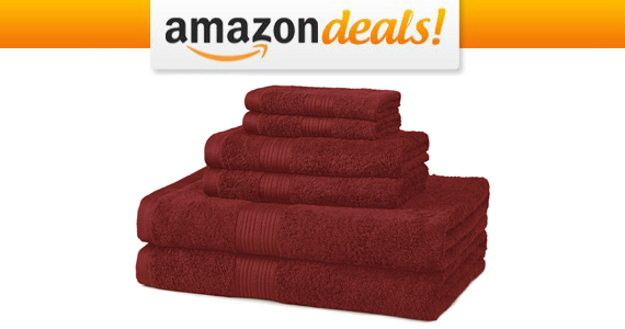 Get a Cotton 6-Piece Towel Set For $14.61