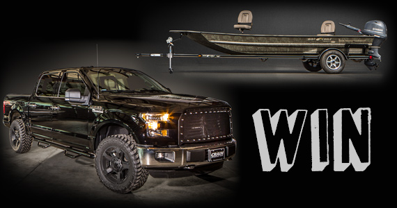 Win a Ford F-150 FX4, Fishing Boat and More