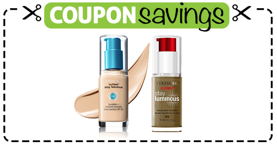 Save $3 off Covergirl Outlast Face Product