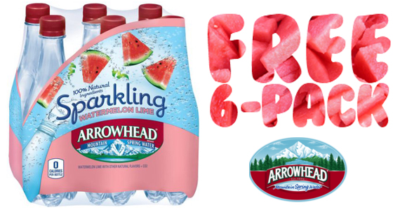 Get a Free 6-Pack of Arrowhead Sparkling Water