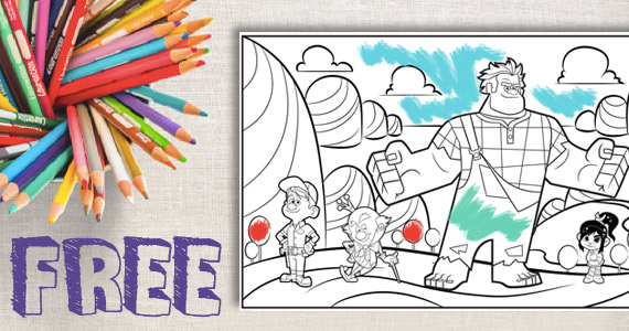 Free Wreck-It Ralph Coloring Page