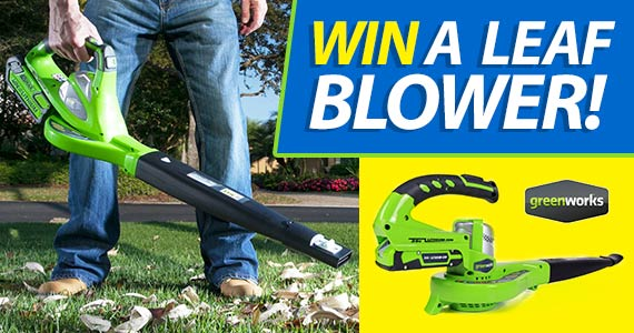 Win A Brand New Leaf Blower