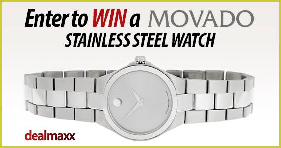 Win a MOVADO Silver Dial Stainless Steel Ladies Watch