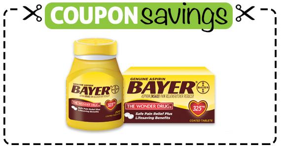 Save $1 off Bayer Aspirin