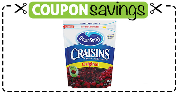 Save $4 off 2 Craisins Dried Cranberries