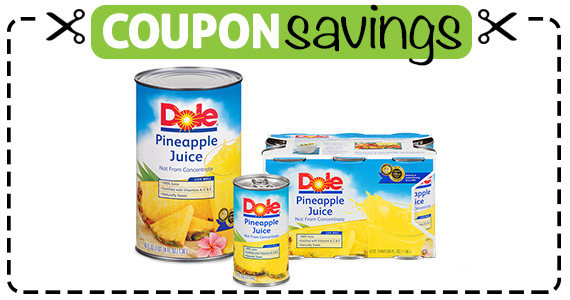 Save $1.25 off Dole Pineapple Juice