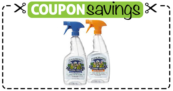 Save $1 off Four Monks Cleaning Vinegar