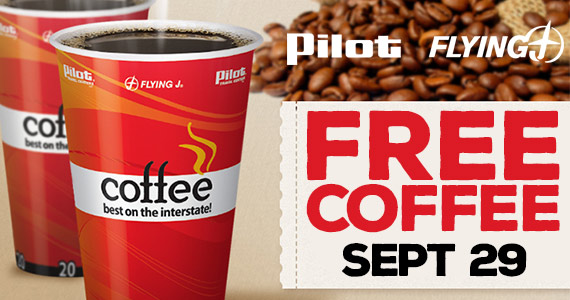 Free Cup of Coffee From Pilot on 9/29