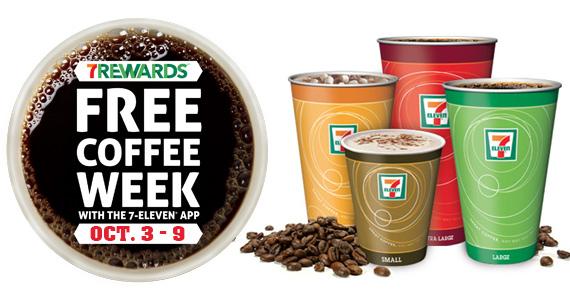 Free Coffee Week at 7-Elven