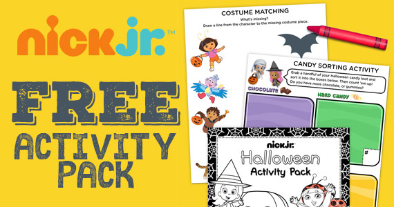 Free Nick Jr. Halloween Activity Pack