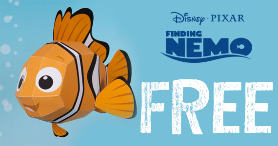 Free Nemo 3D Paper-craft