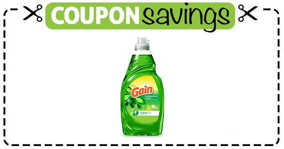 Save 25¢ off Gain Dishwashing Liquid