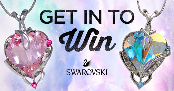Win a Heart Pendant Swarovski Crystal Necklace