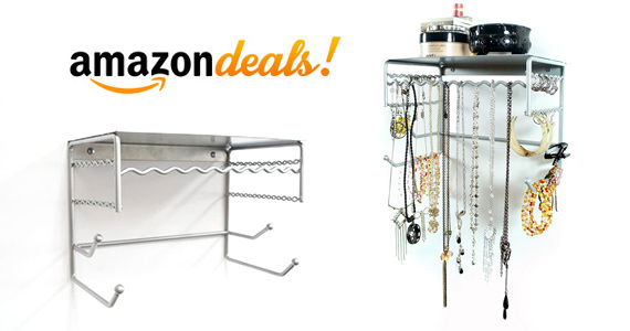 Get a Wall Mount Jewelry Storage Rack For Only $11.81