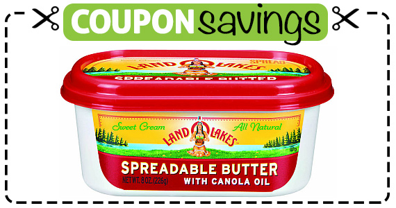 Save 50¢ off LAND O LAKES Spreadable Butter
