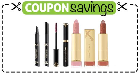 Save $3 off Max Factor Makeup