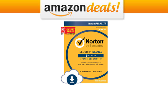Save $60 off Norton Security Deluxe