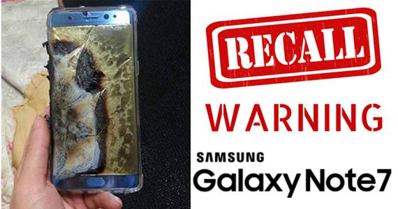 URGENT RECALL: Samsung Galaxy Note 7 Smartphones