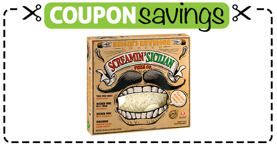 Save $1 off Screamin Sicilian Frozen Pizza