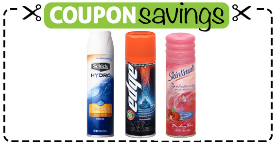 Save $1 off Skintimate, Edge or Schick Hydro Gel