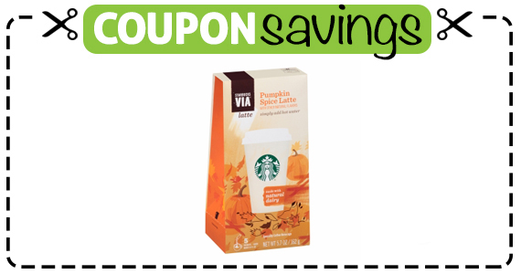 Save $1 off Starbucks Via