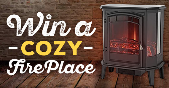 Win a Cozy Electric Fireplace