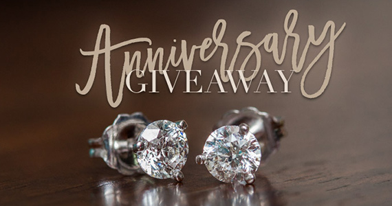 Win a Pair of 1/2ct Diamond Solitaire Earrings