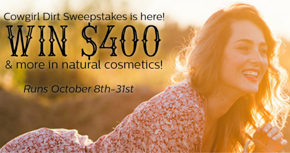 Win $400 & More in Cowgirl Dirt Cosmetics