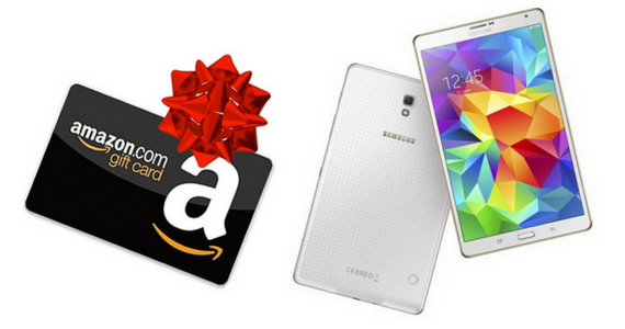 Win an 8″ Galaxy Tab S2 or a $50 Amazon Gift Card