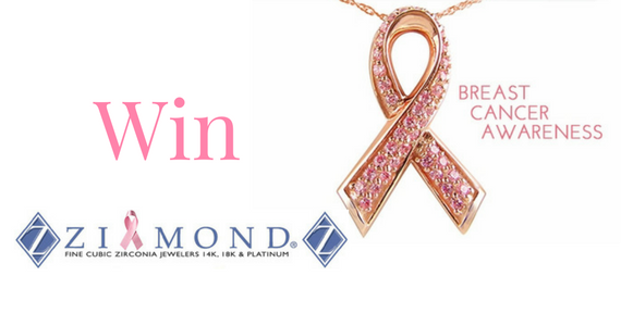 Win a 14K Rose Gold Breast Cancer Awareness Ribbon Pendant