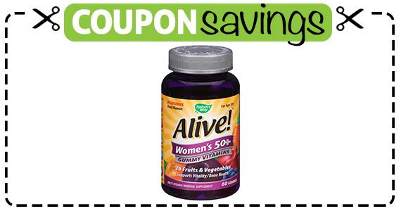 Save $3 off Alive Multi Vitamin