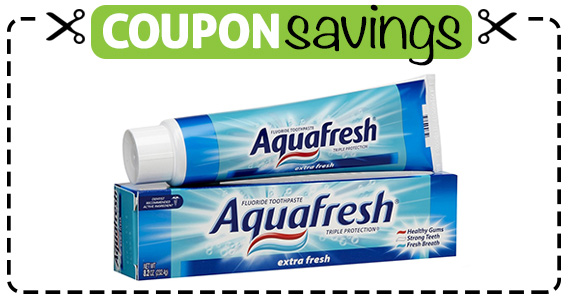 Save $1 off Aquafresh Toothpaste