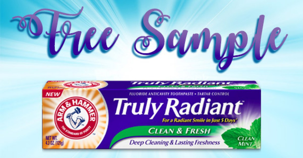 Free Sample of Arm & Hammer Truly Radiant Toothpaste
