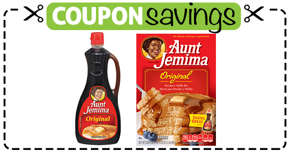 Save $1.25 off 2 Aunt Jemima Products