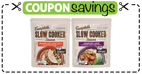 Save $1 off Campbells Slow Cooker or Oven Sauce