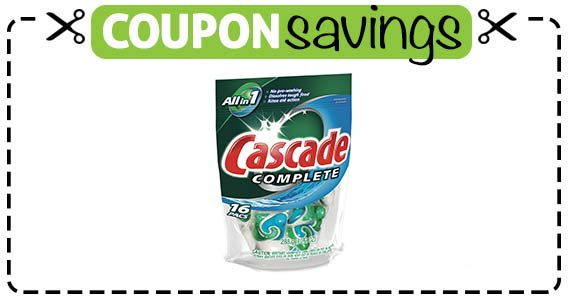 Save 50¢ off Cascade Dishwasher Detergent