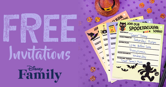 Free Disney Halloween Party Invitations