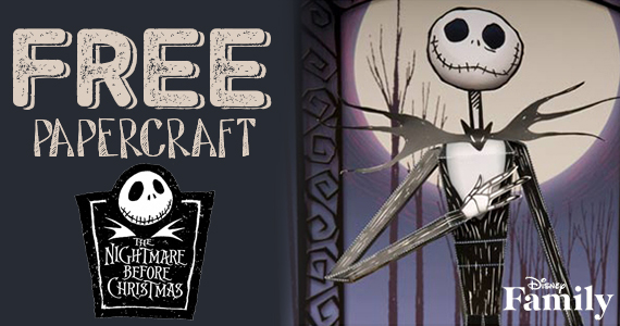 Free Jack Skellington 3D Paper-craft