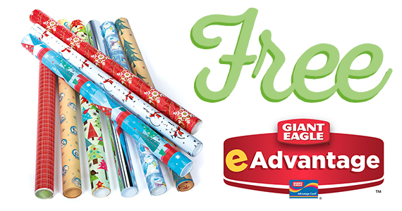 Free Roll of Holiday Wrapping Paper Giant Eagle