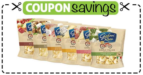 Save $1 off Giovanni Rana Refrigerated Pasta